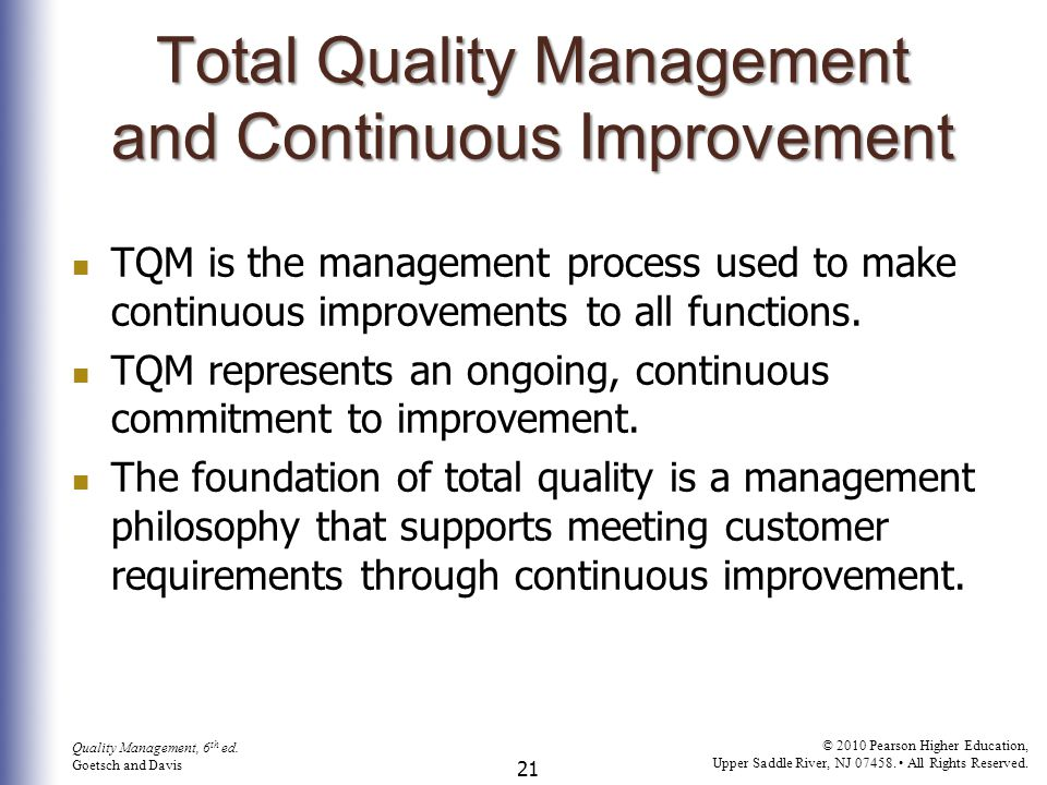 22 Quality Management, 6 th ed.