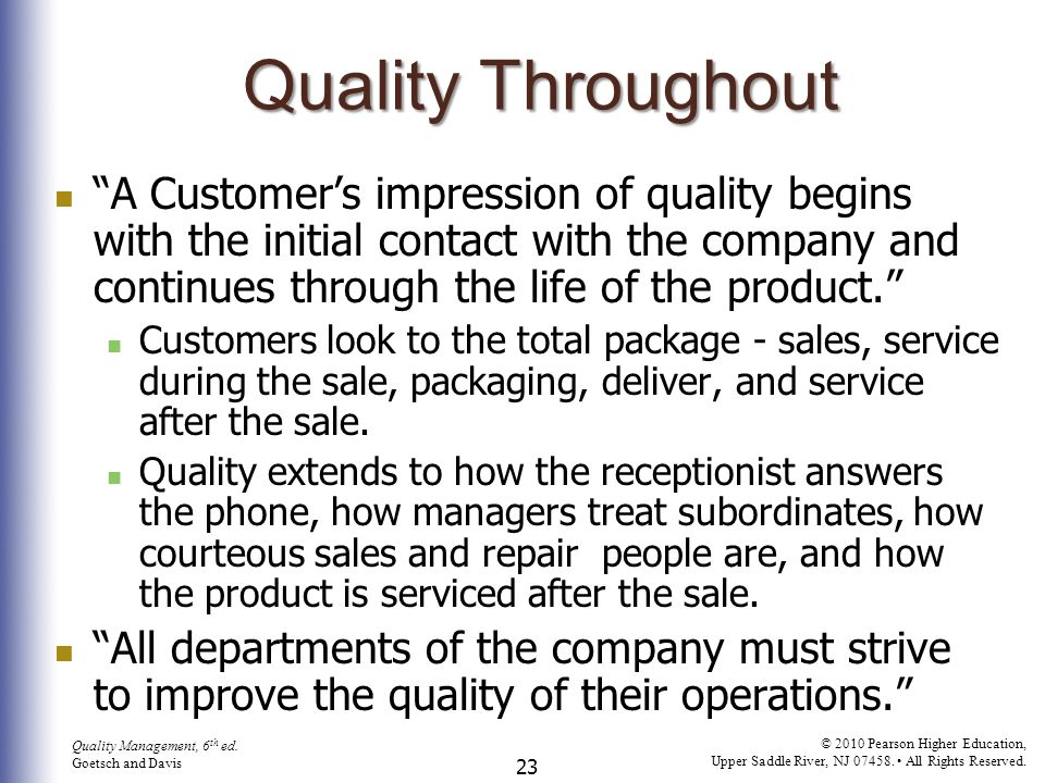 24 Quality Management, 6 th ed.