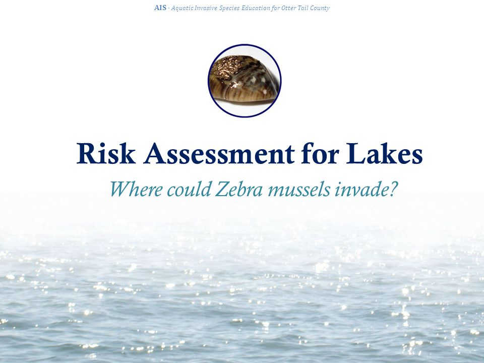 Answer Guide AIS · Aquatic Invasive Species Education for Otter Tail County Study Site: Otter Tail Lake Risk of infestation: High, likely Why: The water chemistry is favorable to optimal growth It has hard substrates for zebra mussel attachment (gravel, rocks) It is downstream from Rose Lake, which is infested already It is connected to many other lakes It is a heavily used lake with many lake accesses