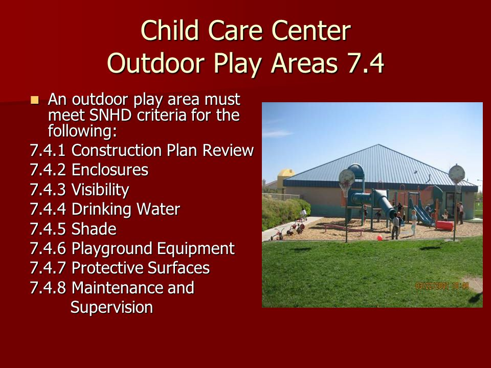 Playground Equipment 7.4.6 Commercial grade only, in compliance with U.S.