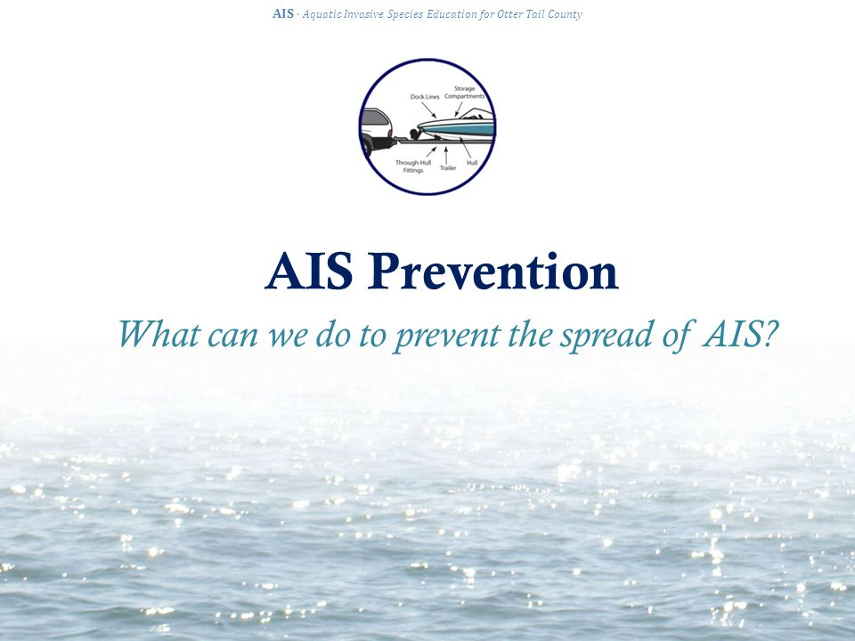 AIS Prevention AIS · Aquatic Invasive Species Education for Otter Tail County What can we do to prevent the spread of AIS