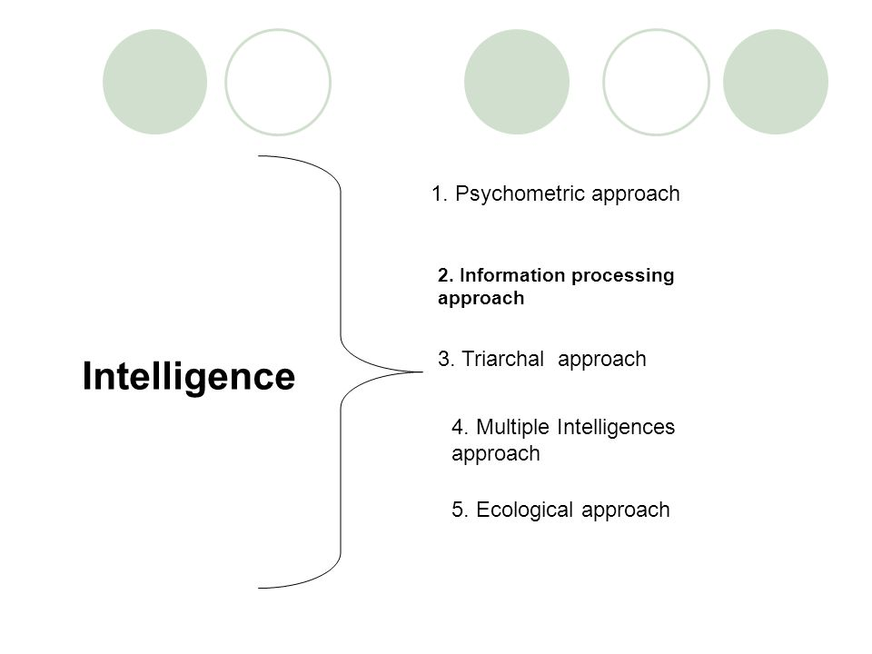 2. Information processing approach 1. Psychometric approach 3.