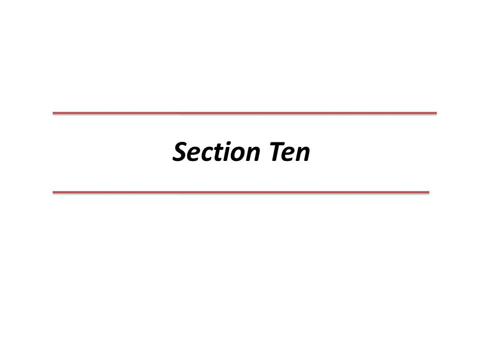 Section Ten