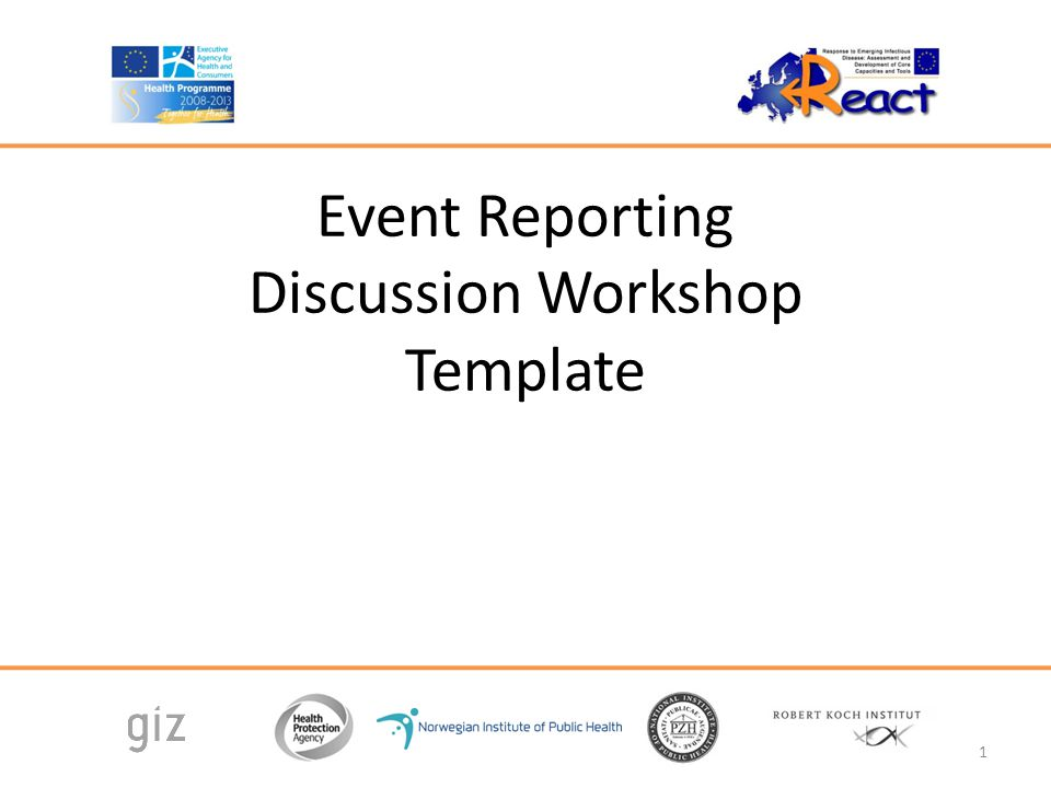 Event Reporting Discussion Workshop Template 1