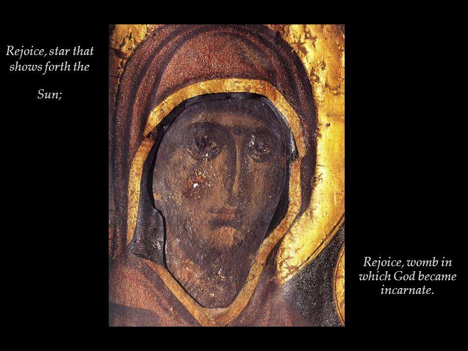 Χαῖρε, Νύμφη ἀνύμφευτε Rejoice, O Bride unwedded