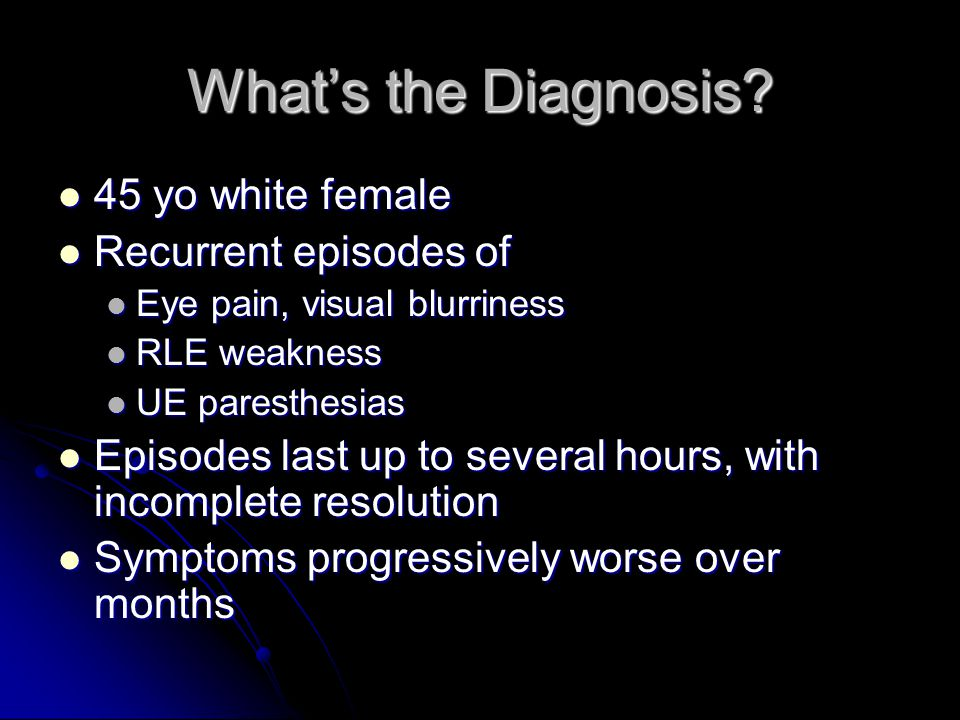 What's the Diagnosis.