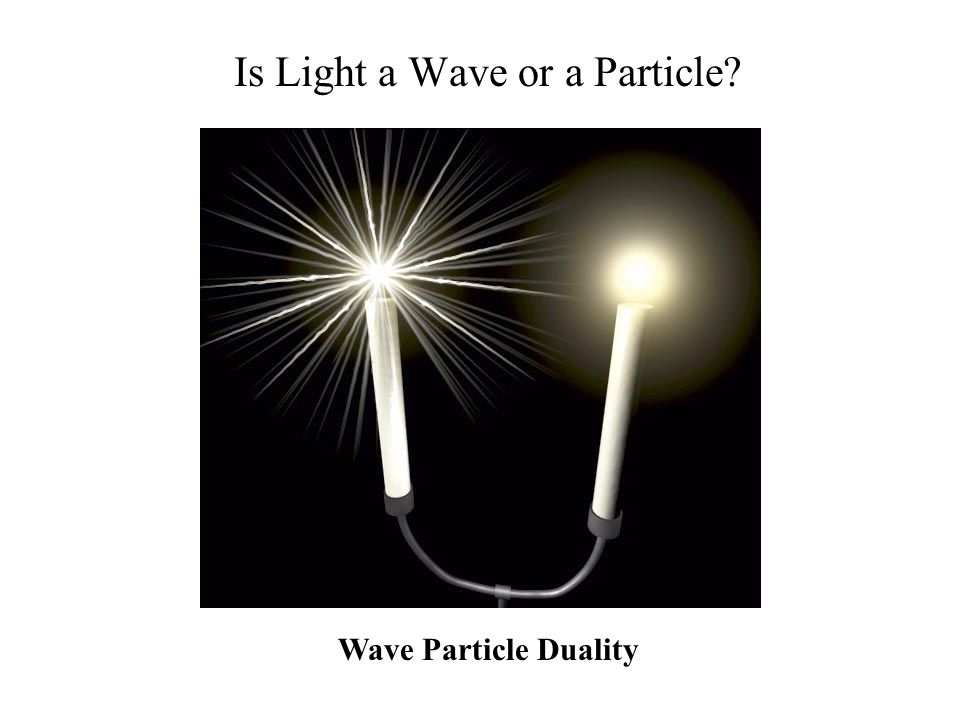 Is Light a Wave or a Particle Wave Particle Duality