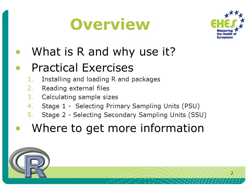 3 Why use R for EHES.