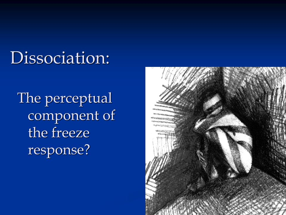 Dissociation: The perceptual component of the freeze response?