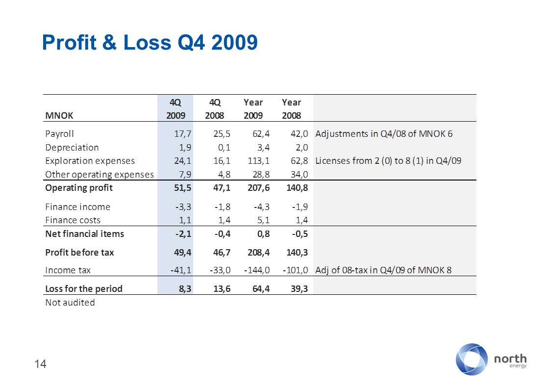 Profit & Loss Q4 2009 14