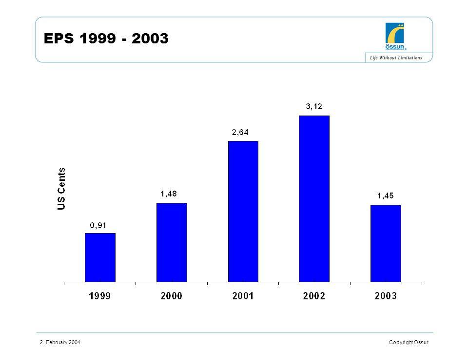 2. February 2004 Copyright Ossur EPS 1999 - 2003