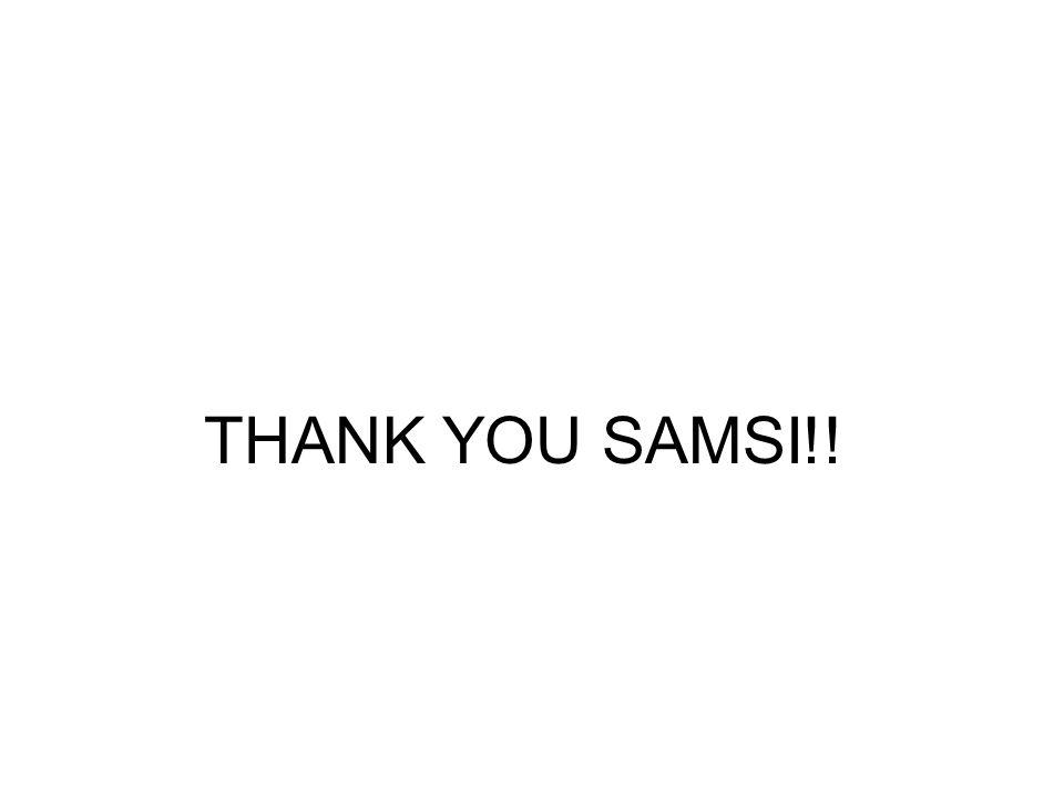 THANK YOU SAMSI!!
