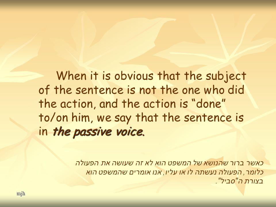 mjh the passive voice.