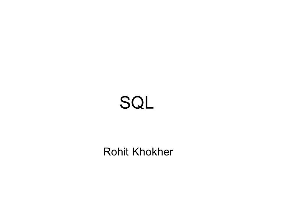 SQL Rohit Khokher
