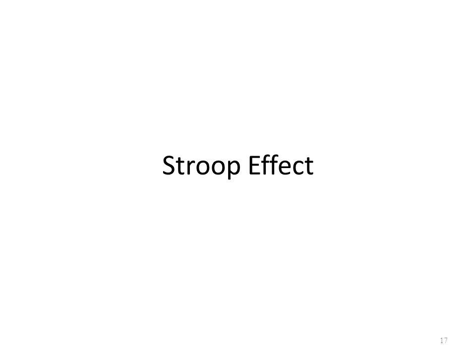 Stroop Effect 17