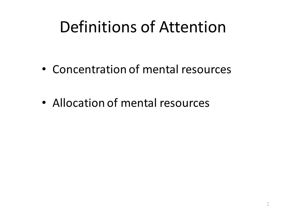 Multiple Aspect of Attention Divided attention Selective attention Theories of attention 3