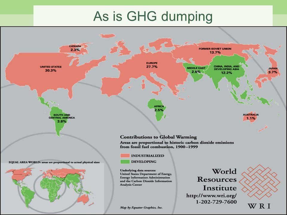 As is GHG dumping