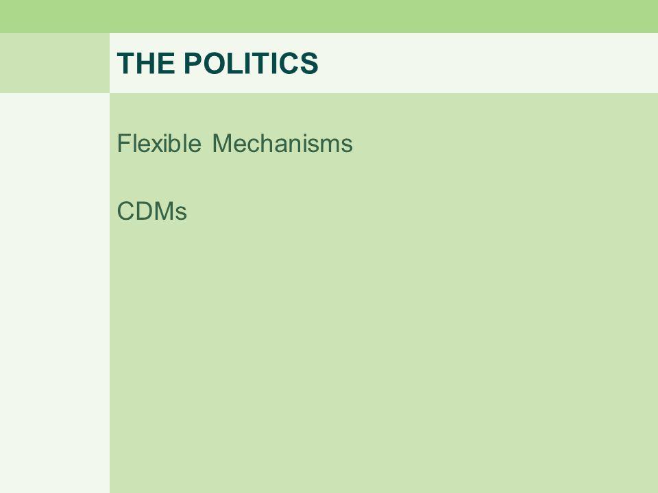 THE POLITICS Flexible Mechanisms CDMs