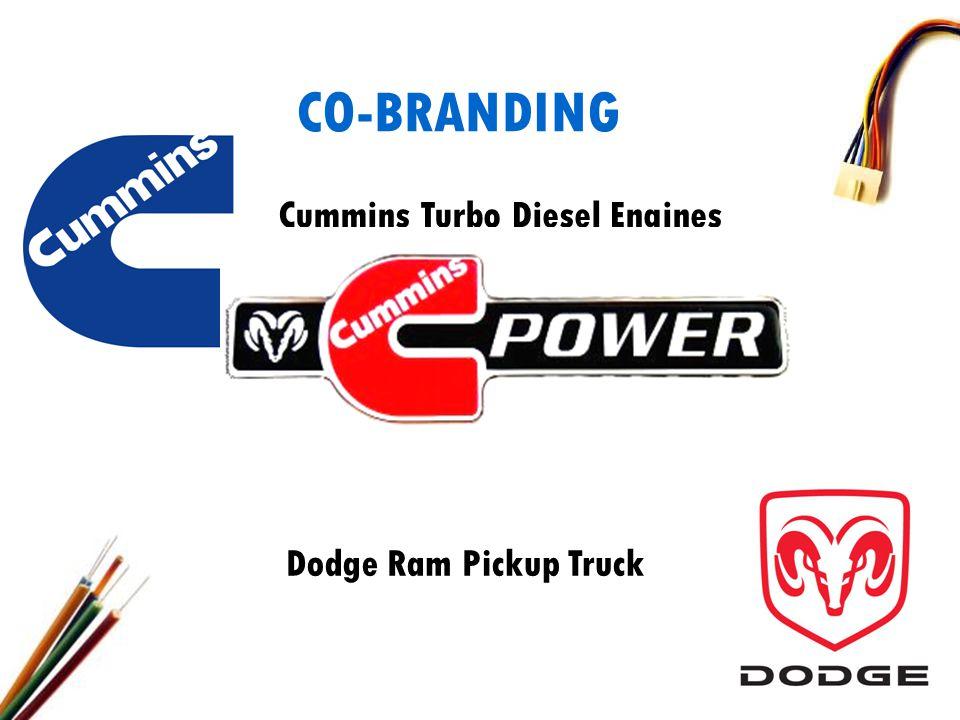 CO-BRANDING Cummins Turbo Diesel Engines Dodge Ram Pickup Truck