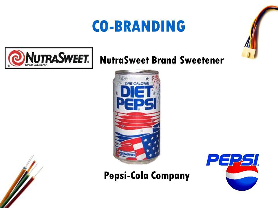 CO-BRANDING NutraSweet Brand Sweetener Pepsi-Cola Company