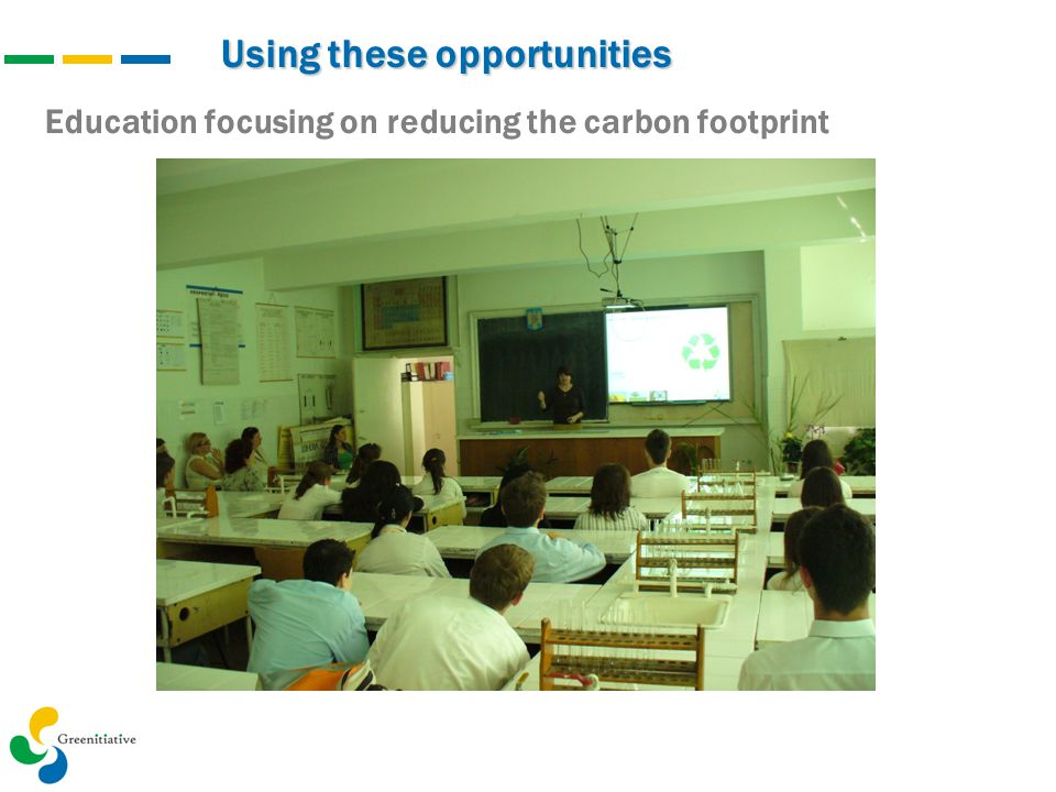 Using these opportunities Education focusing on reducing the carbon footprint Şcoala 56 – Vizită la ExpoRenewEnergy