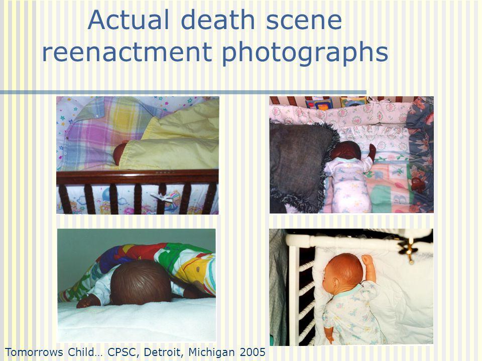 Actual death scene reenactment photographs Tomorrows Child… CPSC, Detroit, Michigan 2005