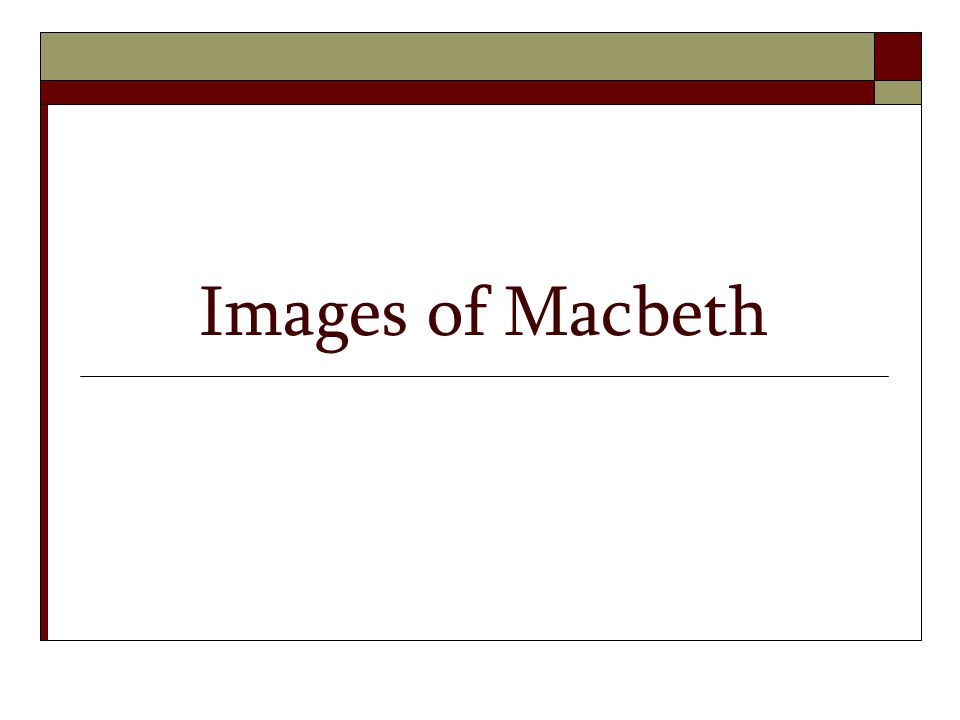 Images of Macbeth