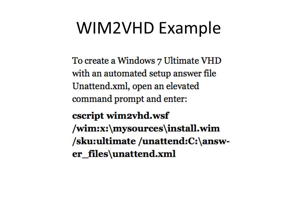 WIM2VHD Example