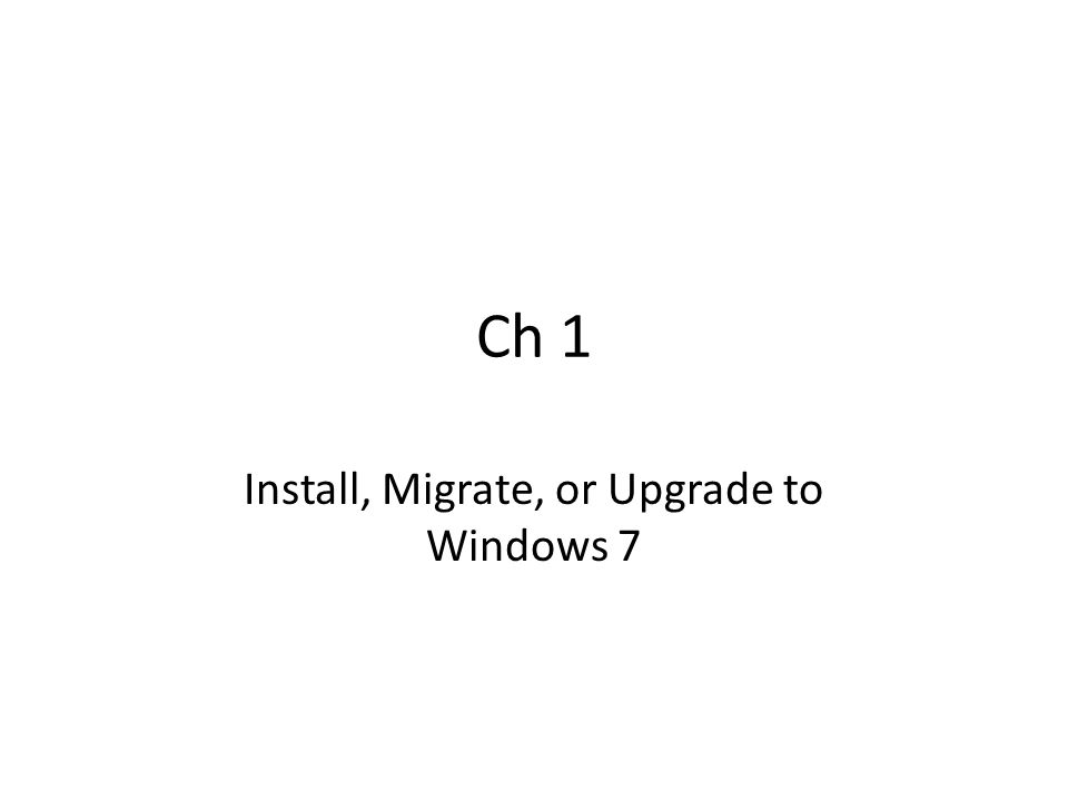 Installation Source DVD USB drive (>= 4 GB), FAT32, Active Network share (must boot target PCs to PE, with USB or DVDs) Windows Deployment Service (WDS) – Requires a Server 2008 domain – Multicast – Target PCs boot PXE or a Windows Discover Image – Server has the install.wim file