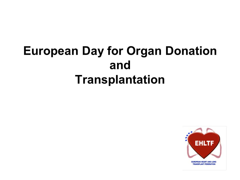 European Day for Organ Donation and Transplantation