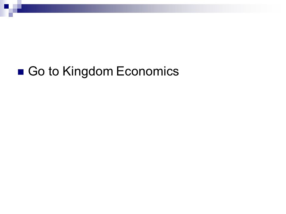 Go to Kingdom Economics