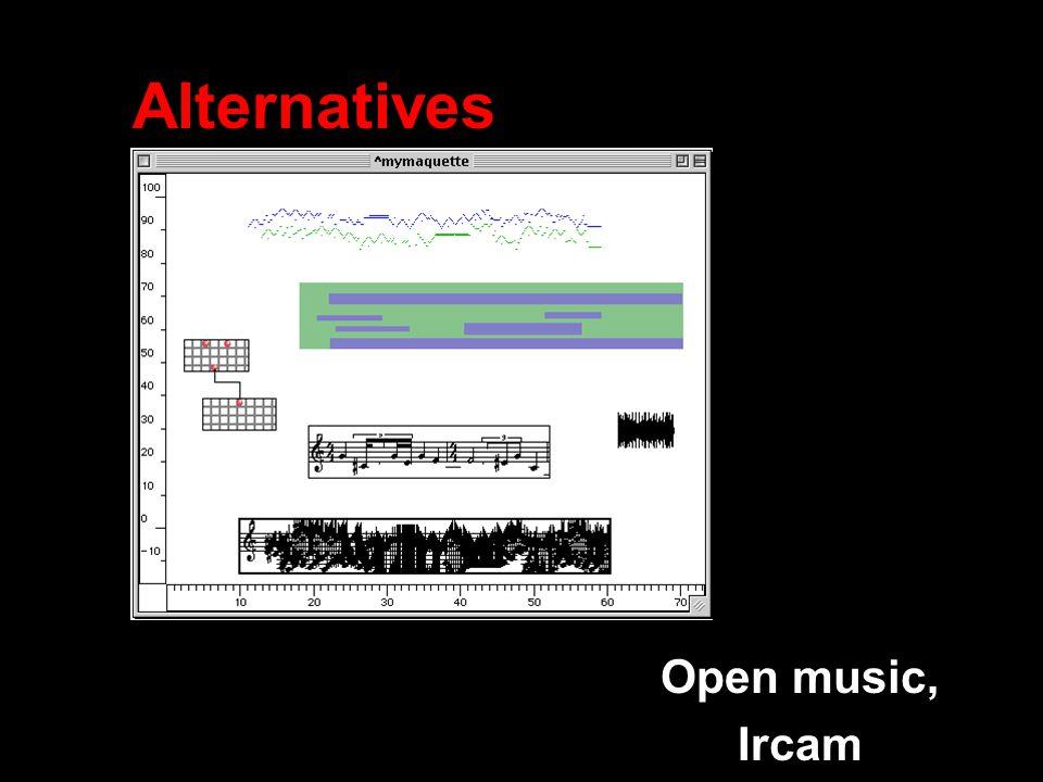 Alternatives Open music, Ircam