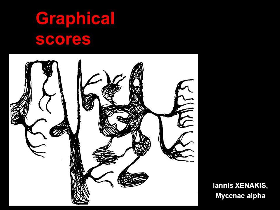 Graphical scores Iannis XENAKIS, Mycenae alpha