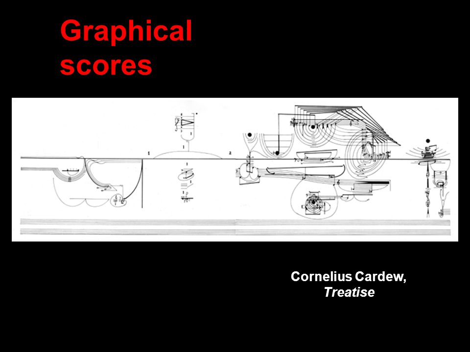 Graphical scores Cornelius Cardew, Treatise