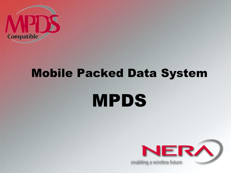 Mobile Packed Data System MPDS