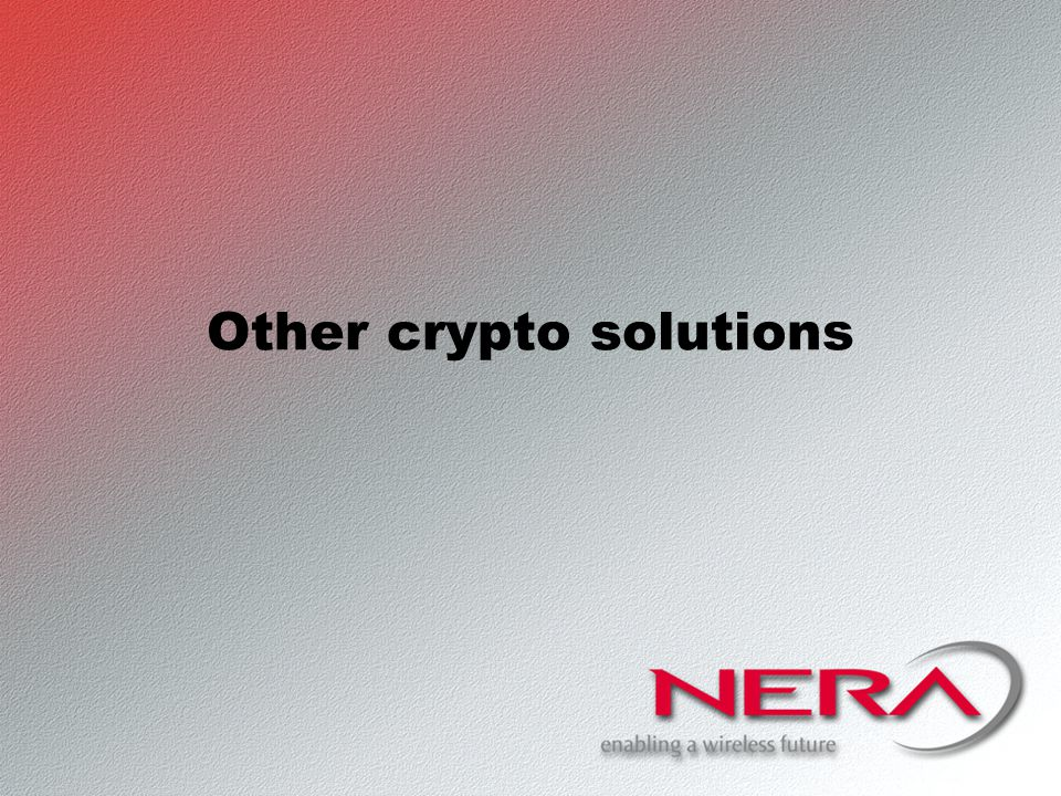 Other crypto solutions