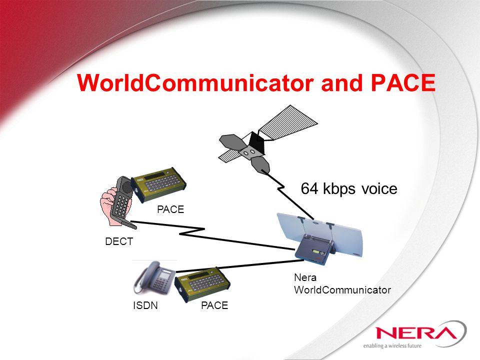 WorldCommunicator and PACE Nera WorldCommunicator DECT PACE ISDNPACE 64 kbps voice