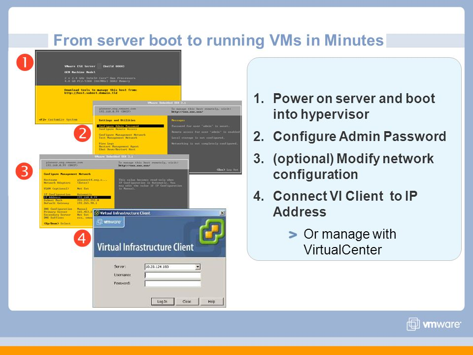13 Storage VMotion Storage independent live migration of virtual machine disks Zero downtime to virtual machines LUN independent Supported for Fibre channel SANs Storage VMotion minimizes planned downtime for storage