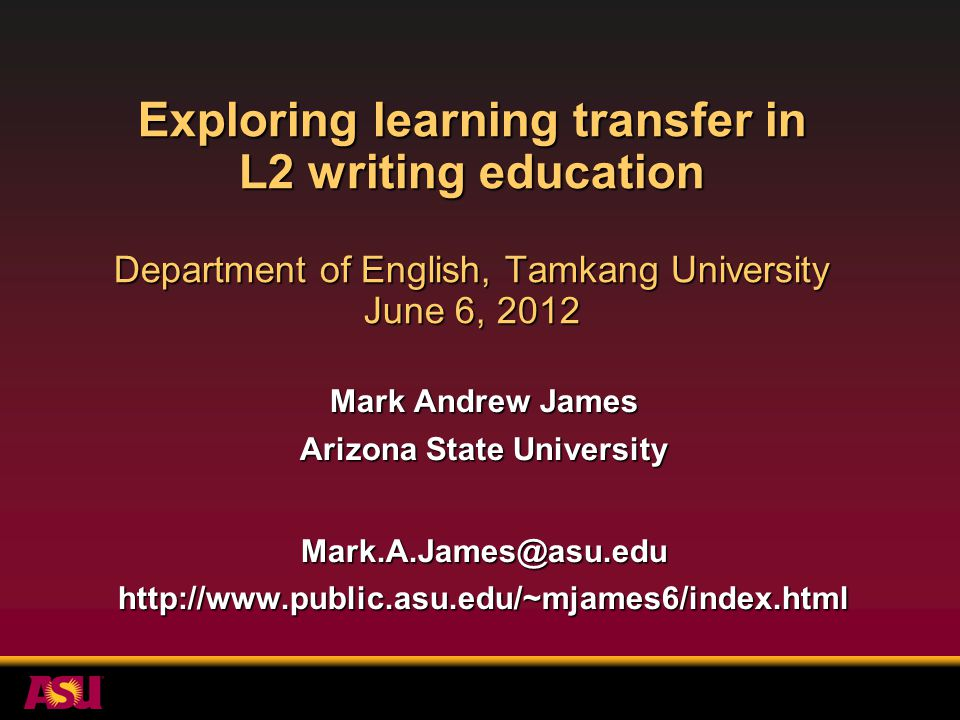 Findings for study 1 Research questions: Did learning transfer from this EGAP writing course to other academic courses.