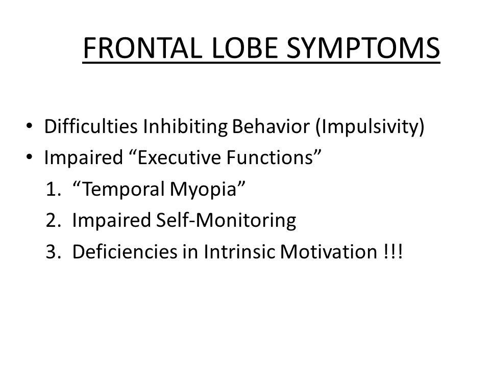 HYPOMETABOLIC STATES FRONTAL LOBES