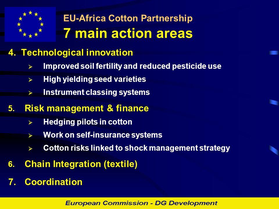 EU-Africa Cotton Partnership 7 main action areas 4.