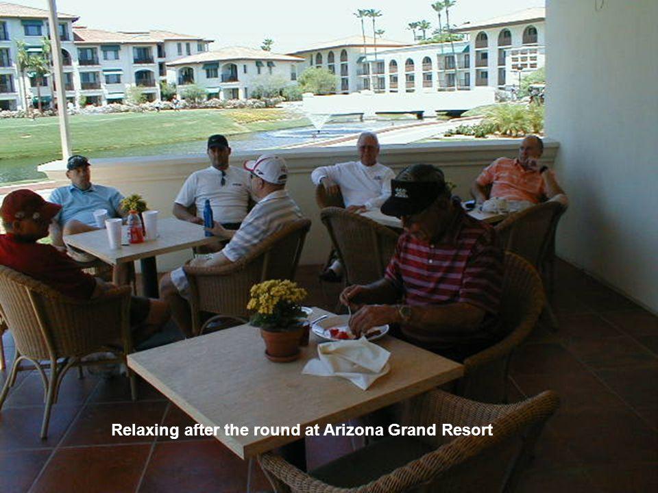 Bob Norton doing a lonely job as HOST at Arizona Grand Resort. Mark Kelley was the Wrangler.