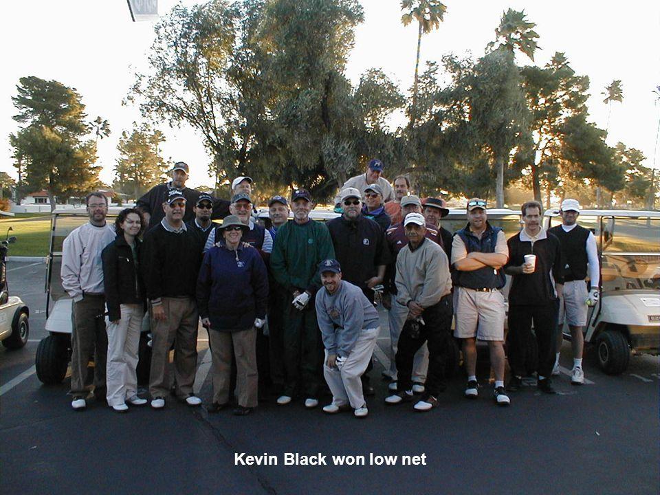 Kevin Black won low net
