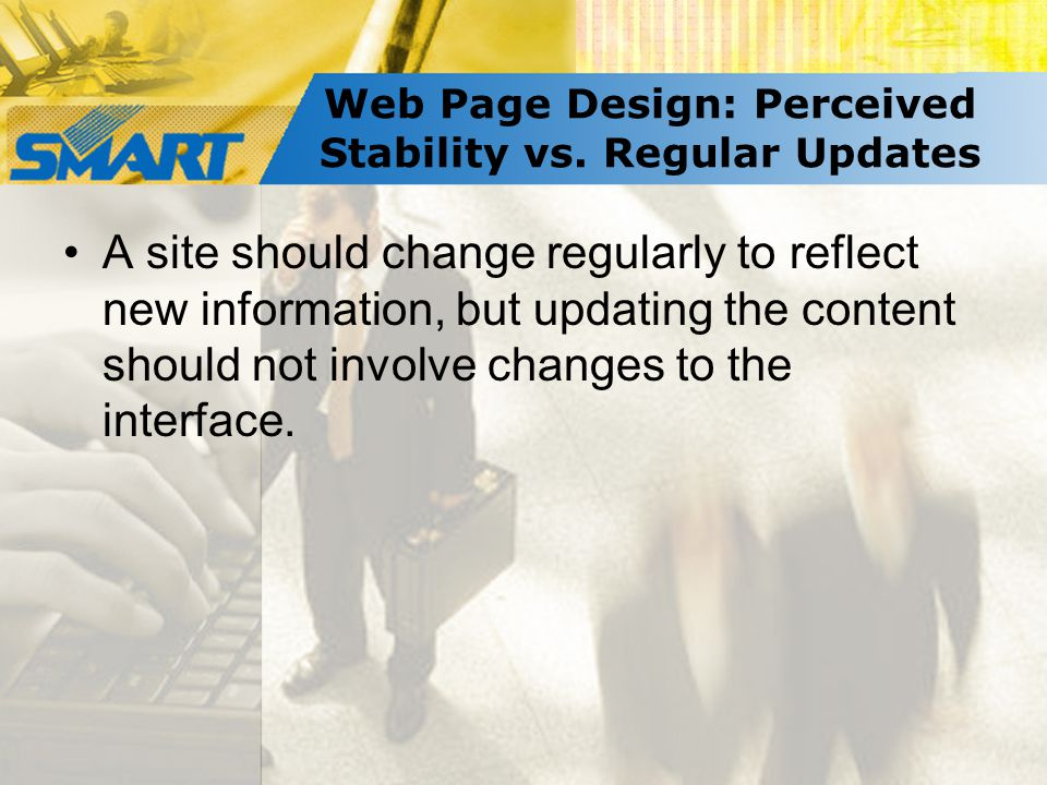 Web Page Design: Perceived Stability vs.