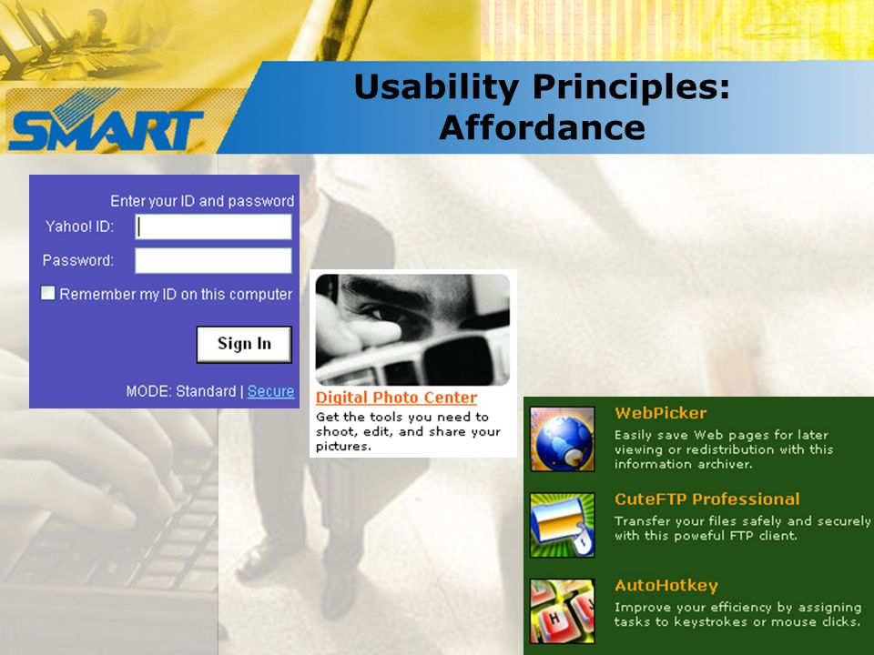 Usability Principles: Affordance