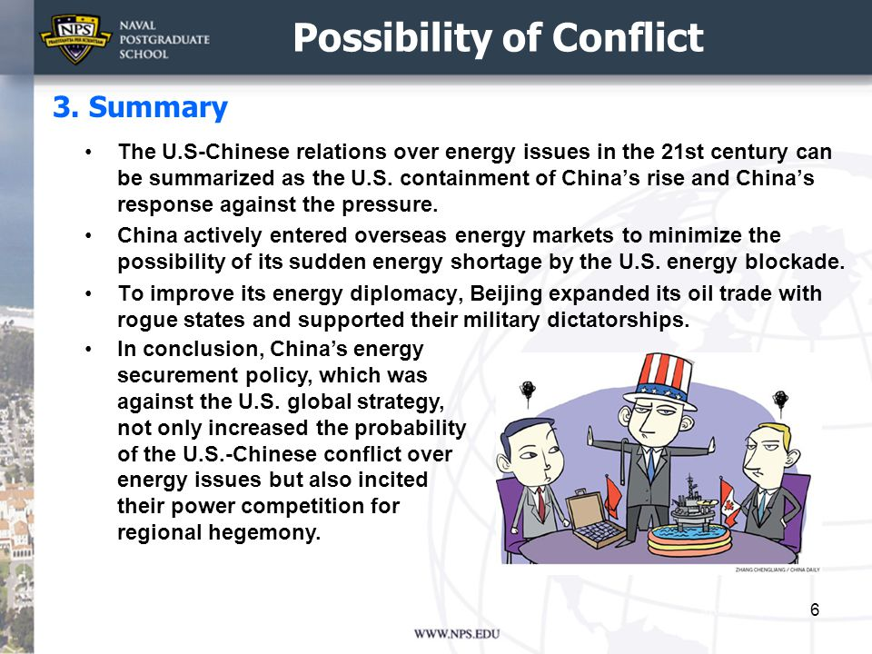 Possibility of Cooperation The U.S.