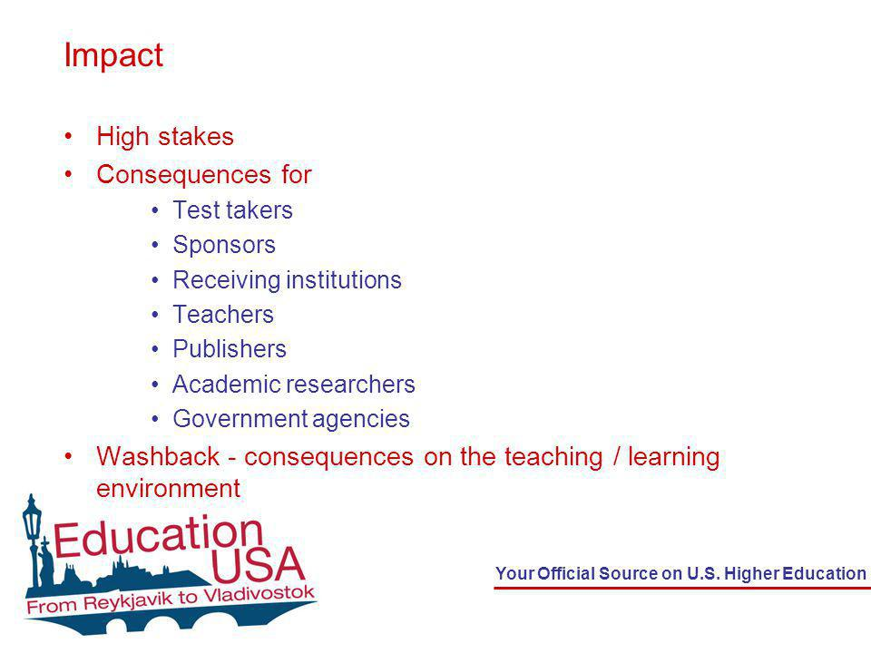 Your Official Source on U.S.Higher Education Very Fast FAQs How often is the test given.
