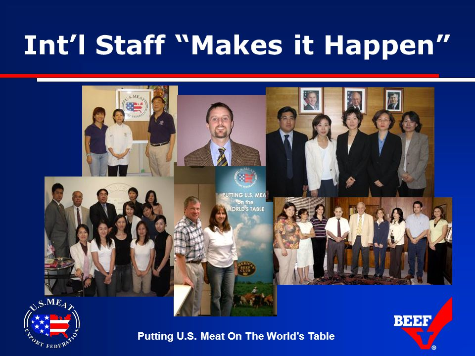 Putting U.S. Meat On The World's Table Int'l Staff Makes it Happen