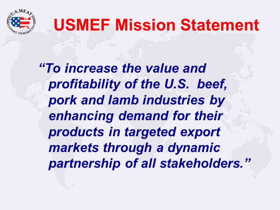 USMEF Offices & Representatives Taipei Singapore Guangzhou Denver Mexico City Sao Paulo Moscow London Beirut Osaka Tokyo Seoul Monterrey St.
