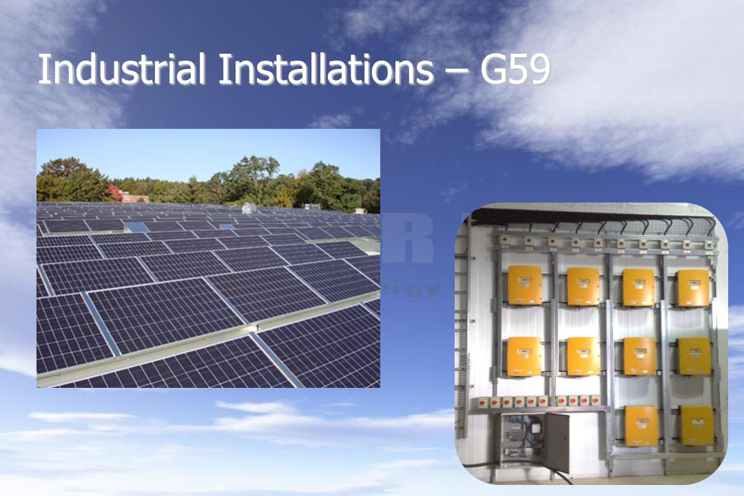Industrial Installations – G59